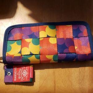 NWT Disney Harvey's Color Block Wallet